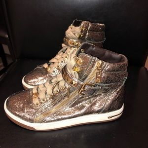 Michael Kors metallic gold sneakers